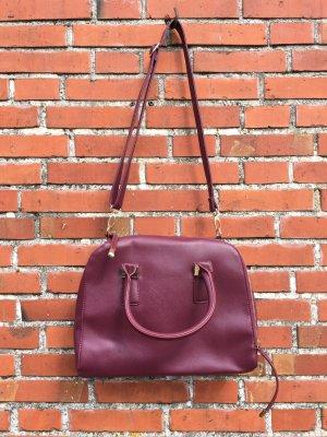 Handtasche mit Querverlaufenden Reißverschluss