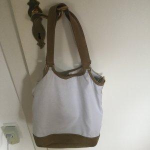 Handtasche mit Wildlederbesatz