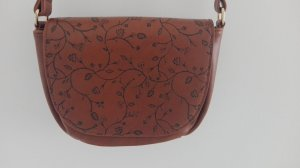 Anna Field Shoulder Bag cognac-coloured imitation leather