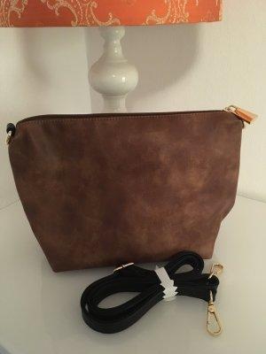 Handtasche neu braun shopper Umhängetasche clutch Accessoires Blogger Fashion