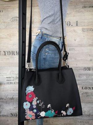 Handtasche NEU m. Etikett✔  Blumen Henkeltasche Blogger Tasche Hippie Trapez Tasche Shopper Abendtasche Handtasche Schultertasche XL Bag