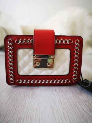 Handtasche NEU m. Etikett ✔ Nieten Schmuck Henkeltasche Blogger Tasche Kettenriemen Hippie Trapez Tasche Clutch Abendtasche Handtasche Schultertasche Rot