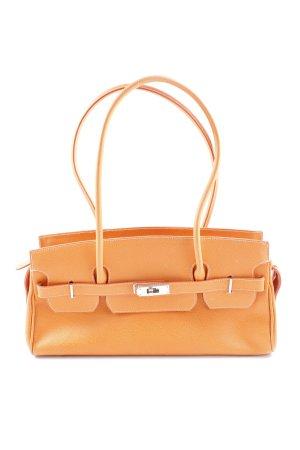 Handtasche orange-silberfarben Elegant
