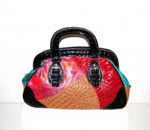 Made in Italy Pouch Bag multicolored imitation leather