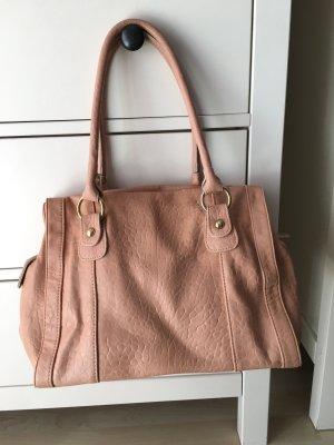 Handtasche Pieces apricot lachs rosa wie neu