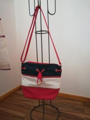 Handtasche rot/weiß/blau