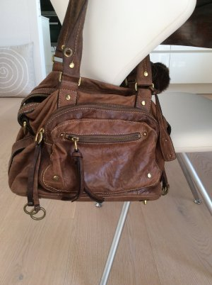 abro Handbag brown leather