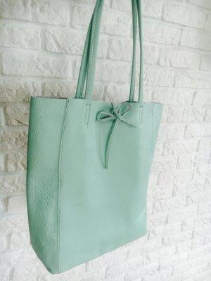 Handtasche Schultertasche MINT Kalbsleder Shopper Vera Pella