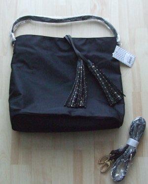 deux lux Schoudertas zwart Textielvezel