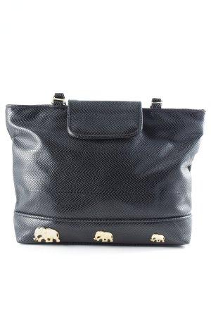 Handtasche schwarz Animalmuster Lack-Optik