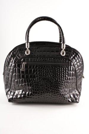 Handtasche schwarz Glanz-Optik