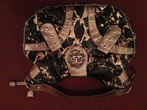 Handtasche schwarz/ gold