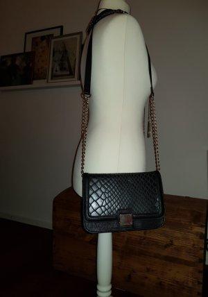 Handtasche schwarz/gold