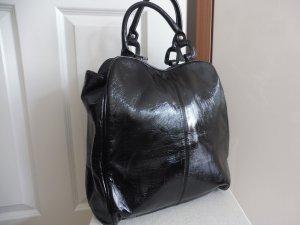 Handtasche schwarz Lack Tasche
