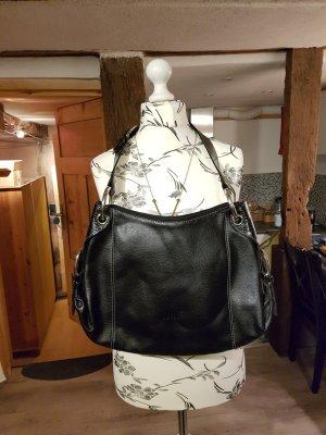L.credi Shoulder Bag black-silver-colored leather