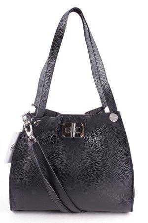 Handbag black-silver-colored simple style