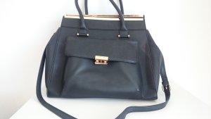 Handtasche schwarz und gold