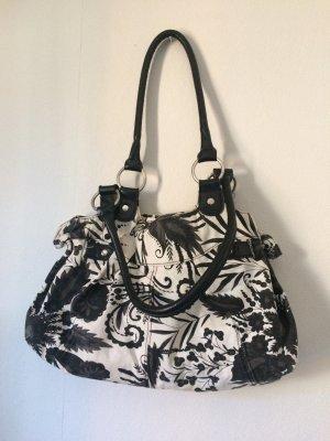 Handtasche schwarz/weiß Muster