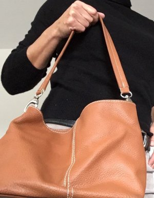 Carry Bag orange-beige leather
