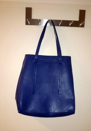 Handtasche Shopper blau königsblau von PIECES, wie NEU