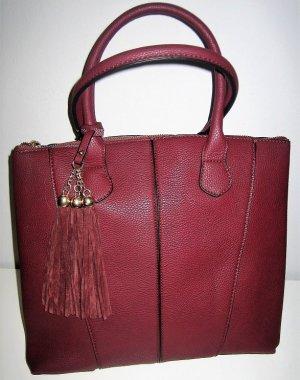 Handtasche Shopper Bordeaux rot