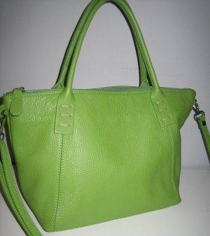 Handtasche Shopper grün aus hochwertigem Leder