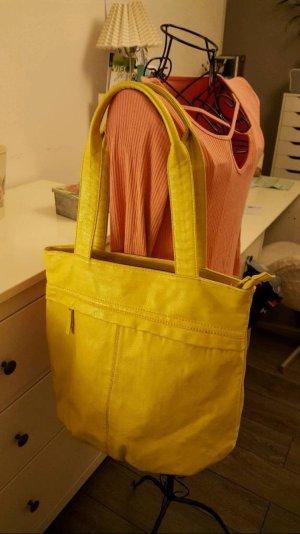 Handtasche / Shopper in hellgelb