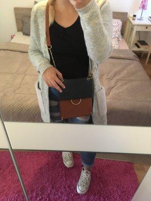 Handtasche Shopper Tasche Umhängetasche braun blau Primark Zara