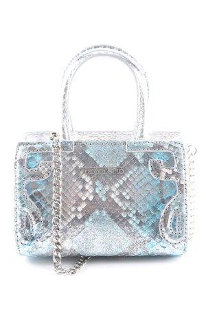 Handtasche silberfarben-türkis Farbverlauf extravaganter Stil