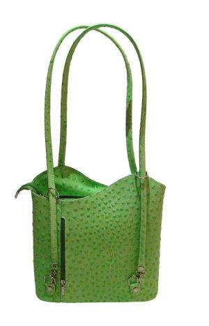 Frame Bag green leather