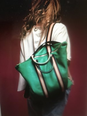Borse in Pelle Italy Laptop Backpack forest green leather