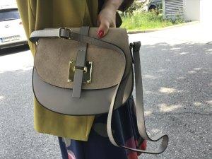 Handtasche Tasche Leder Umhängetasche neu taupe