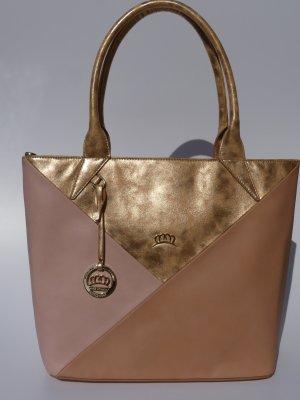 Shopper rose-gold-coloured imitation leather