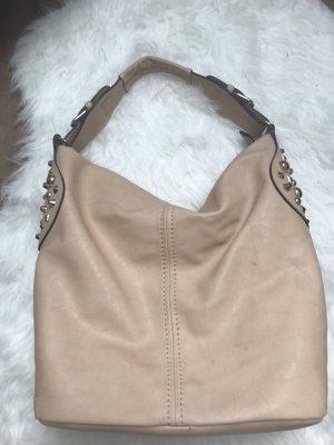 Handtasche Tasche Nude Gold Nieten Umhängetasche Schultertasche