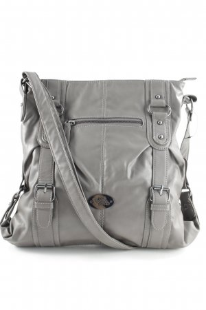 Handtas taupe casual uitstraling