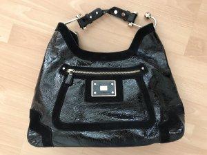 Anya hindmarch Handbag black-gold-colored leather
