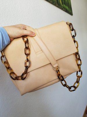 Handtasche umhängetasche braun Beige