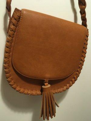 Handtasche, Umhängetasche, Braun, Western