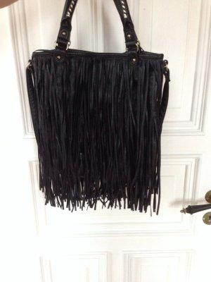 Handtasche Umhängetasche Fransen Leder rockig