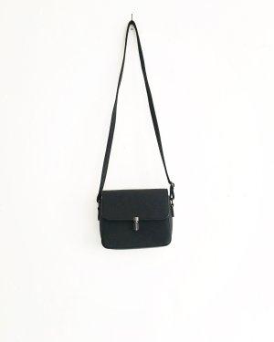 handtasche / umhängetasche / vintage / vegan leather / boho / granny / grau schwarz