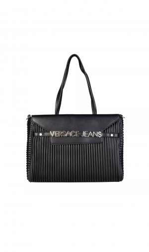 Versace Jeans Borsa a tracolla nero Finta pelle