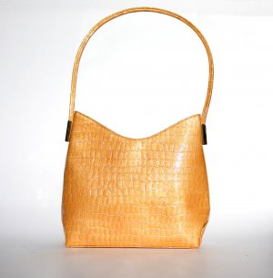 Sandro Vicari Carry Bag gold orange leather