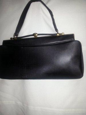 Handbag black synthetic fibre
