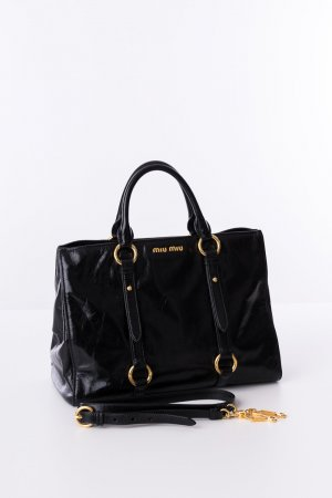 Miu Miu Handbag black-bronze-colored leather