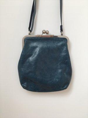 Volker Lang Pochette blue leather