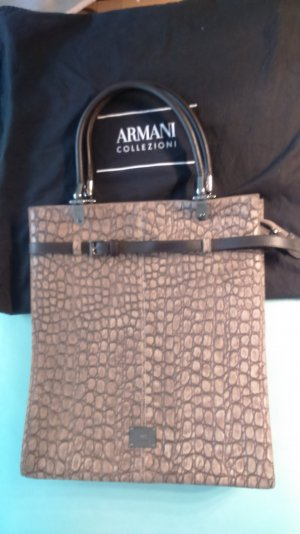 Armani Collezioni Carry Bag light brown leather