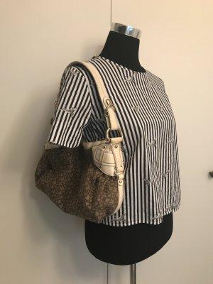 Handtasche von DKNY weiß braun Gold