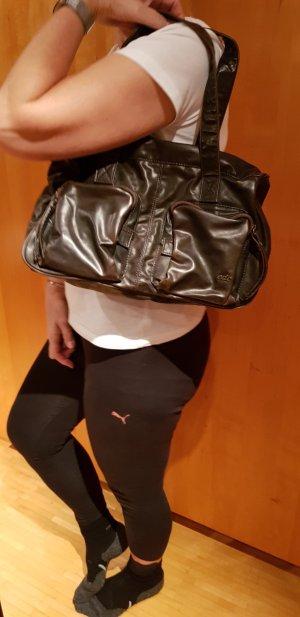 Handtasche von EDC, aus dunkelbraunem Leder
