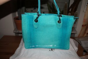 Handtasche von Elegance aus Schlangenleder, türkis, neu!