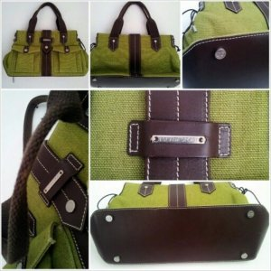 Escada Carry Bag grass green-brown leather